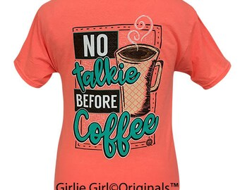 Girlie Girl Originals Coffee Retro Heather Coral Short Sleeve T-Shirt