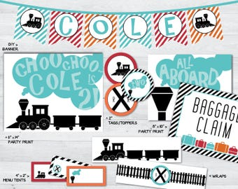 alphabet train party printables, alphabet train party, train party decor, alphabet party printables, train party, train party decorations