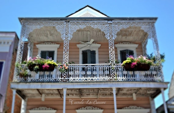FRENCH QUARTER BALCONY in New Orleans ~ My New Orleans Series ~ Streetscape ~ Cajun Decor ~ Louisiana Fine Art photography ~ FQBal1