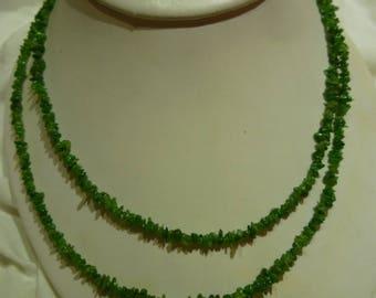 G43 Vintage Tsavorite Garnet Necklace.