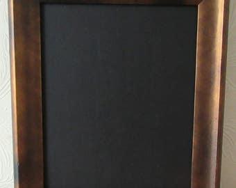 Black & Copper Effect Framed Chalkboard / Blackboard / Wedding Board / Kitchen Notice Board / Memo board