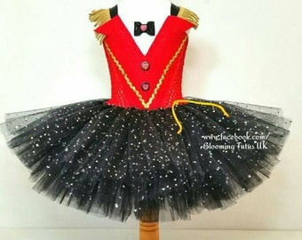 Circus Sparkly Ringmaster Inspired Tutu Dress and Sparkly Hat-Birthday, Party, Photo Shoot, Pageant, Fancy Dress, Princess, Cake Smash
