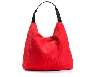 red bag - red purse - evening purse - vegan hobo bag purse - small hobo bag - vegan bag - party bags for women - red shoulder bag - PETELS