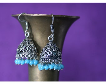 Maribel, earrings of Tibetan silver