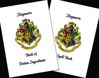 Spells and Potion Ingredient Booklets Witches Wizards School - digital download