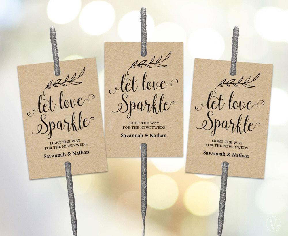 Sparkler Tags Tempate Printable Wedding Sparkler Tags Let