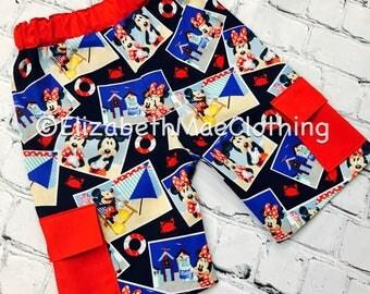 Mickey and Minnie Cape Cod Boy's Cargo Shorts