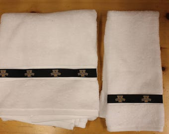 University of Vanderbilt Ribbon Bath and Hand  Towel Set