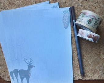 Among the Winter Trees Writing Paper Stationery