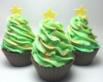 Christmas Tree soapy cupcake