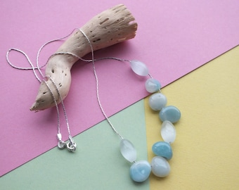 Sterling Silver Amazonite & Opalite Necklace