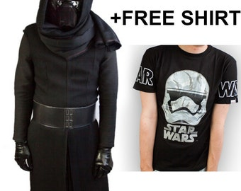 Star Wars The Force Awakens XL Size Kylo Ren Costume + FREE SHIRT