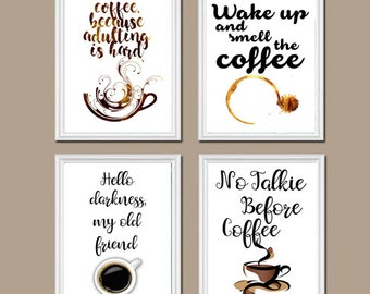 Superbe Coffee Wall Art Set