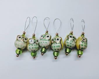 Little Owl stitch markers