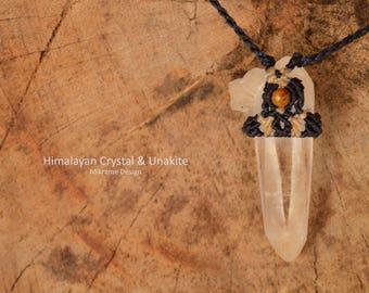 Quartz Crystal Necklace,Crystal Point Necklace,Macrame Quartz,Macrame Crystal,Travel Gift,For Him,For Her,Men Pendant,Quartz crystal pendant