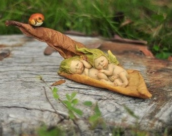 Fairy Garden  - Sleeping Baby Fairies - Miniature