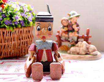 Vintage Pinocchio toy / Old Pinocchio wooden toy / Pinocchio puppet style toy / Vintage Pinocchio wooden toy / Old wooden toy