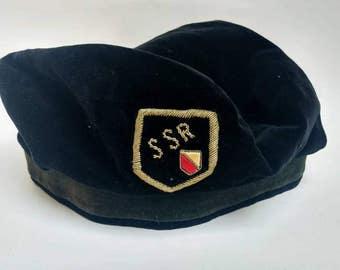 Vintage Dutch student society beret SSR fraternity