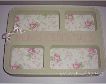 Pretty Wooden Essentials Tray Bits and Bobs Mum Gran