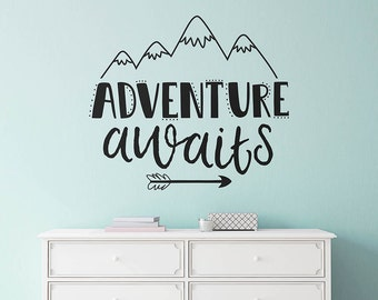 Adventure Awaits Wall Decal   Nursery Decal, Wall Quote, Modern Decal, Cute  Wall