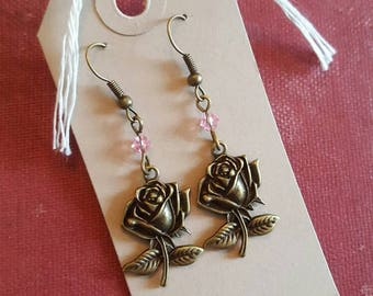 Rose Antique Bronze earrings
