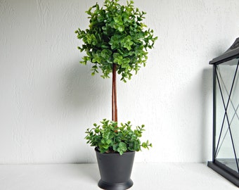 Boxwood Topiary Tree, Topiaries, Artificial Plant, Faux Green Plant, Indoor Greenery, Silk Plant, Small Tree, Fake Little Tree