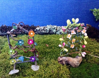 Handmade Miniature Arbor Fairy Garden Arbors Arches Miniature Fairy Garden Decorations OOAK Handmade Miniatures Fairy Garden Accessories