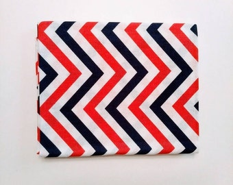 CHEVRONS - Dark Navy and Pink Fabric - Pink Fat Quarter - Navy Fat Quarter - Coordinating Fabric