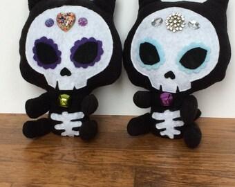 Sugar Skull Kitty Plush