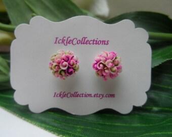 Tie Dye Flower magnetic Earrings, girls Earrings,  Flower earrings , girls birthday gift, magnetic earrings, stud earrings