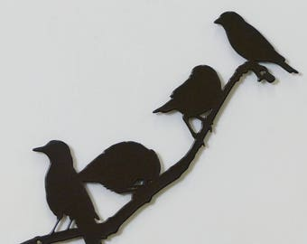 Birds on Branch 3 - Small - Metal Wall Sign - (DD16---)