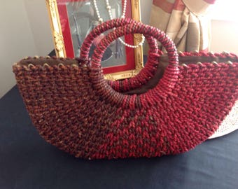 Vintage seagrass handbag. Aftershock