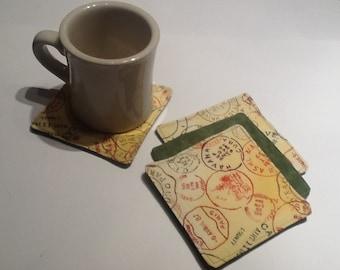Handmade Quiled Coaster Set