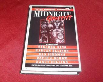 Midnight Graffiti Horror Anthology Short Stories Hardcover Stephen King, Dan Simmons, Joe Lansdale, Neil Gaiman 1992