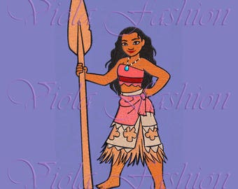 embroidery design Moana Disney Princess 5x7 pes hus jef vip vp3 dst  colour chart
