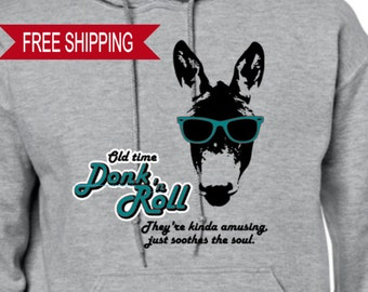 Old Time Donk 'n Roll - Hoodie, Donkey, Retro
