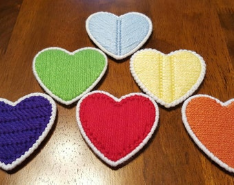 Rainbow Heart Coasters