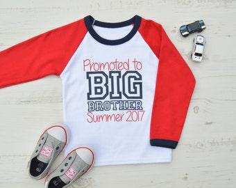 Promoted to Big Brother Shirt | Big Brother Announcement Shirt | Big Brother Shirt | Raglan Promoted to Big Brother