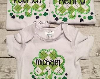 St Patricks Day shirt - four leaf clover shirt - boy st patricks day shirt - st patricks day shirt for boys - st patricks day