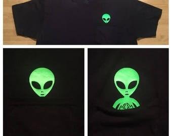 Middle Finger Alien Pocket T Shirt