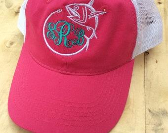 Monogrammed Fishing Trucker Hat