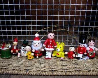 Wood Decorations, Wooden Decorations, Vintage Wood Decorations, Christmas Decorations, Vintage Decoration, Vintage Christmas, Kitsch, 1970s