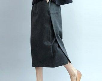 women cotton skirt/women leisure skirt/women black skirt/women spirng skirt/women skirt/women spring skirt/BJ18DFEB1818