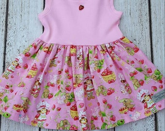 Strawberry Shortcake sleeveless dress (2T, 3T)