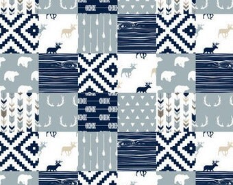 Baby, Toddler Boy Quilt, Baby Woodland Blanket,
