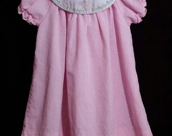 Little girl lite pink vintage smock dress. size 2T