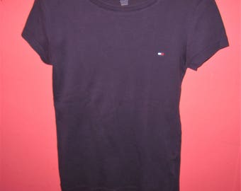 SALE Vintage Tommy Hilfiger Tee XS/S 90's Purple T Shirt Club Kid Top