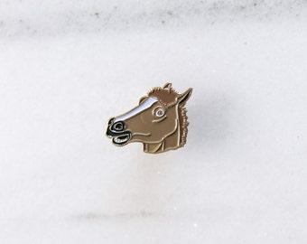 HORSE MASK - Enamel Pin, Lapel pin.
