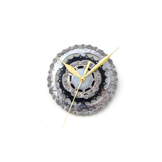 Bike Wall Clock - Industrial Wall Clock - Modern Wall Clock - Unique Wall Clock - Boyfriend Gift - Husband Gift - Dad Gift - Birthday Gift