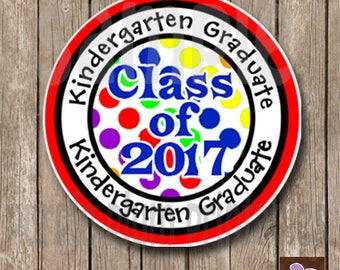 Instant Download - Kindergarten Graduate - Class of 2017 - Print at Home